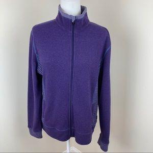 Kuhl Purple Wool Blend Full Zip Chianti Fleece K